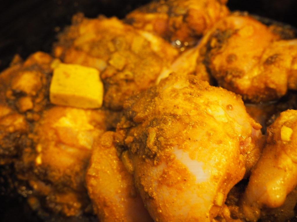 Hindoestaanse massala kip kerrie met blok