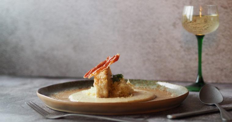 KERST – Zeeduivel medaillons met romige appelsaus, zuurkool, serranoham en zeekraal