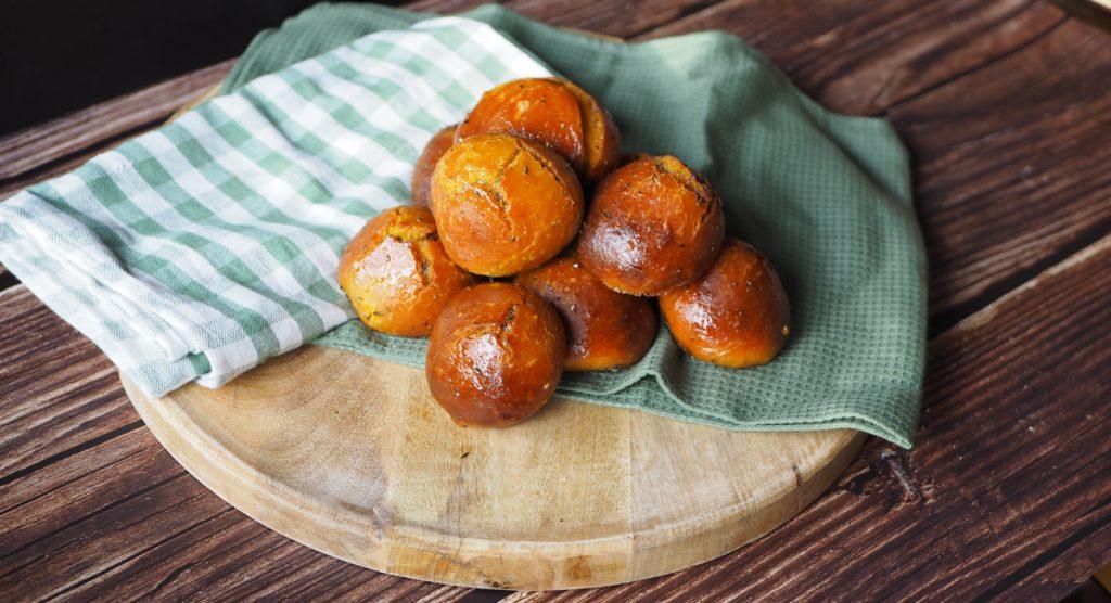 pompoenbroodjes met honing glaze
