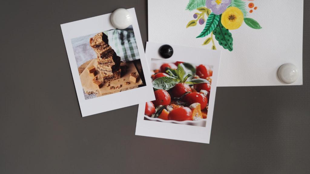 foto's van fotofabriek op de koelkast  (retroprints)