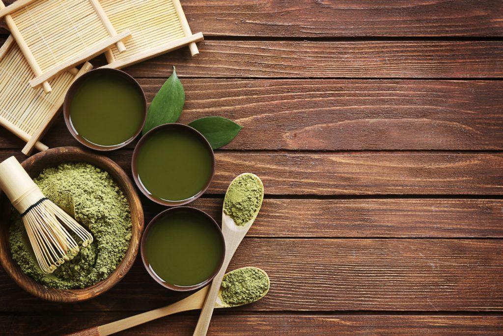 Matcha wordt veel gebruikt als ingrediënt voor soufflé pannenkoeken in Japan.