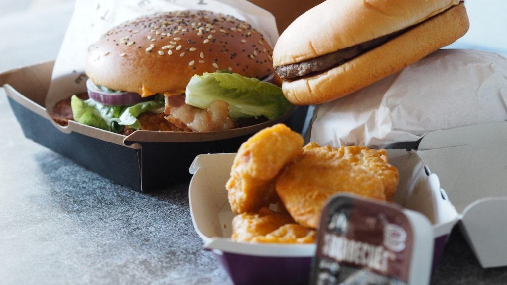 homestyle crispy chicken veggie van McDonald's