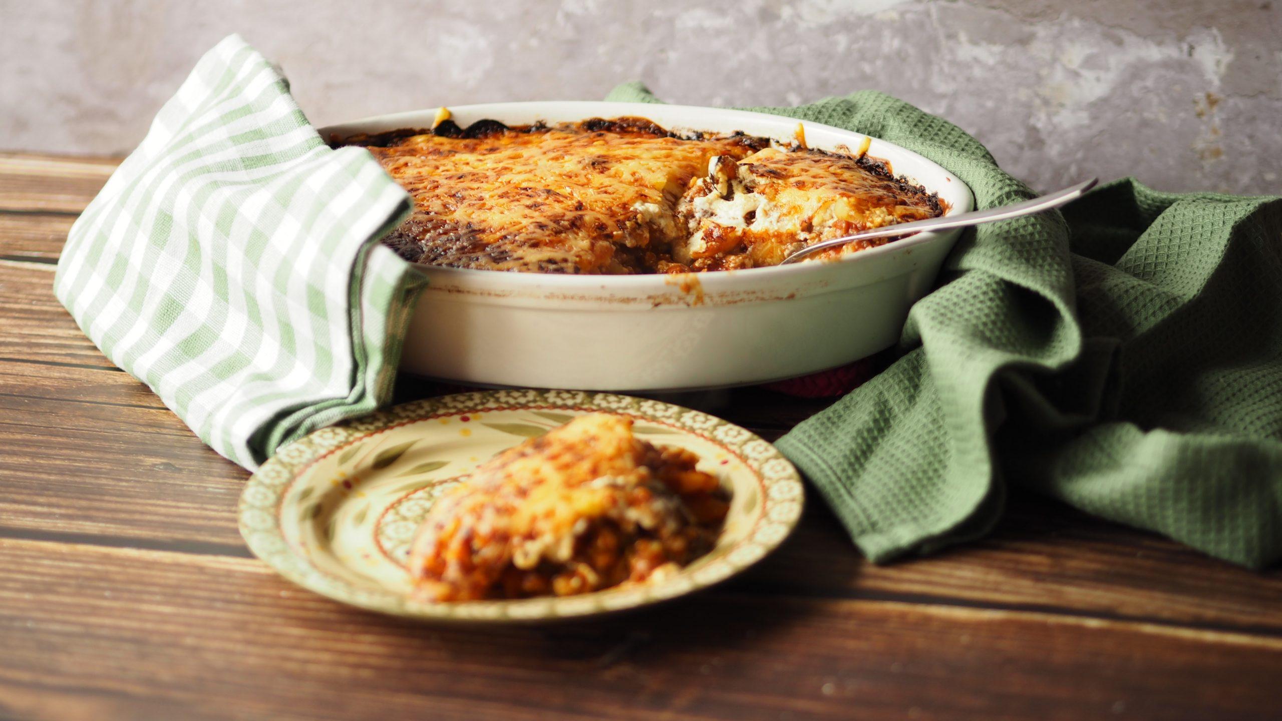 Week zonder vlees – Vega Moussaka met rode linzen