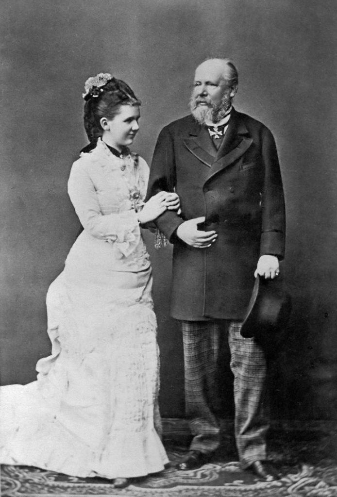 Koningin Emma en Koning Willem III