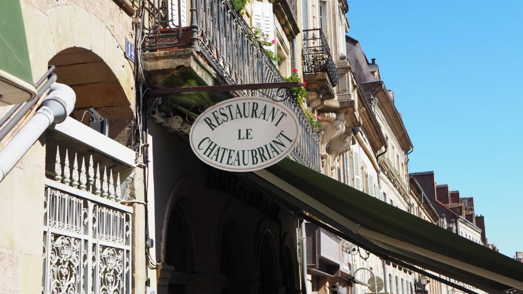 Restaurant Le Chateaubriand in Autun, Sâon-sur-Loire, Bourgogne).